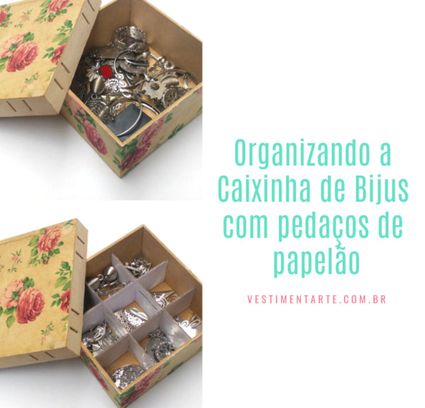 Como organizar bijuterias reaproveitando pedaços de Papelão