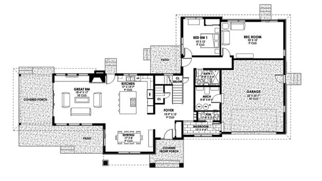 บ้านสไตล์โมเดิร์น 4 ห้องนอน