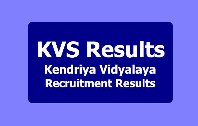 KVS Recruitment Results