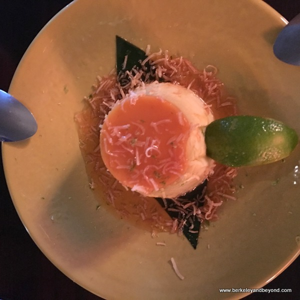 coconut-lime crème brulee at 533 Viet Fusion in Palm Springs, California
