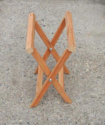 Como fazer um banquinho de madeira dobrável