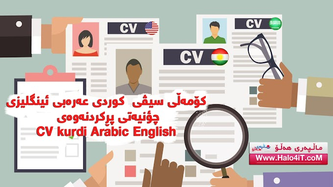 CV kurdi Arabic English