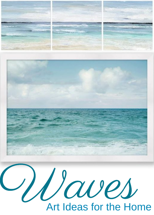 Ocean Waves Art Idea for the Coastal Home