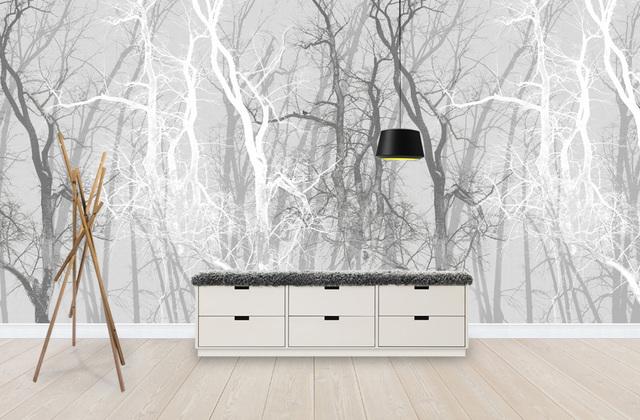 metsä tapetti puu kuvio mustavalkoinen oksat
