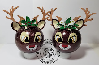 Reindeer Ornaments - Vinyl and Paper