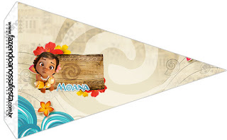 Moana Baby Food Toppers or Flags.