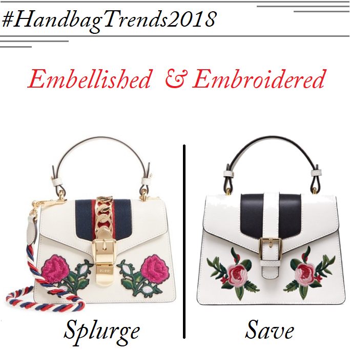 Gucci Sylvie Medium, Gucci Sylvie Medium Embroidered, Gucci Sylvie Lookalike, Gucci Sylvie Look for less, Gucci Sylvie dupe, Embroidered Handbags 2018