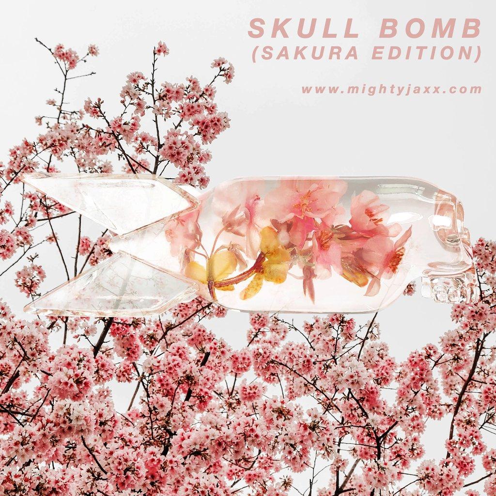 Skull Bomb Sakura Edition By Jason Freeny X Mighty Jaxx For 24hrs