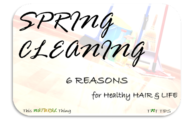 6 Reasons to Spring Clean for Healthy Hair & Life
