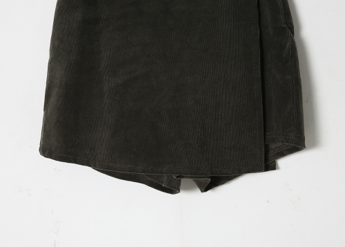 Wrap Corduroy Mini Skort