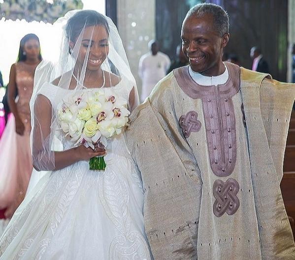 Damilola Osinbajo Amp Seun Bakare White Wedding Photos Yemi