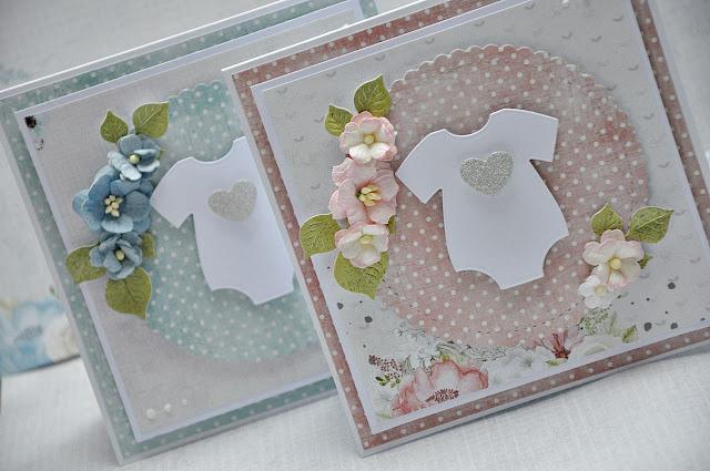 kartki ozdobione kwiatkami dla dzieci