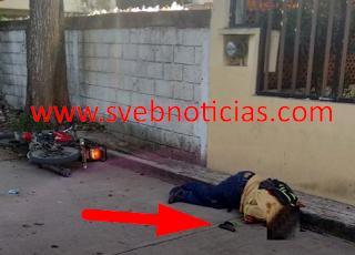 Ejecutan a joven motociclista armado en Tuxpan Veracruz