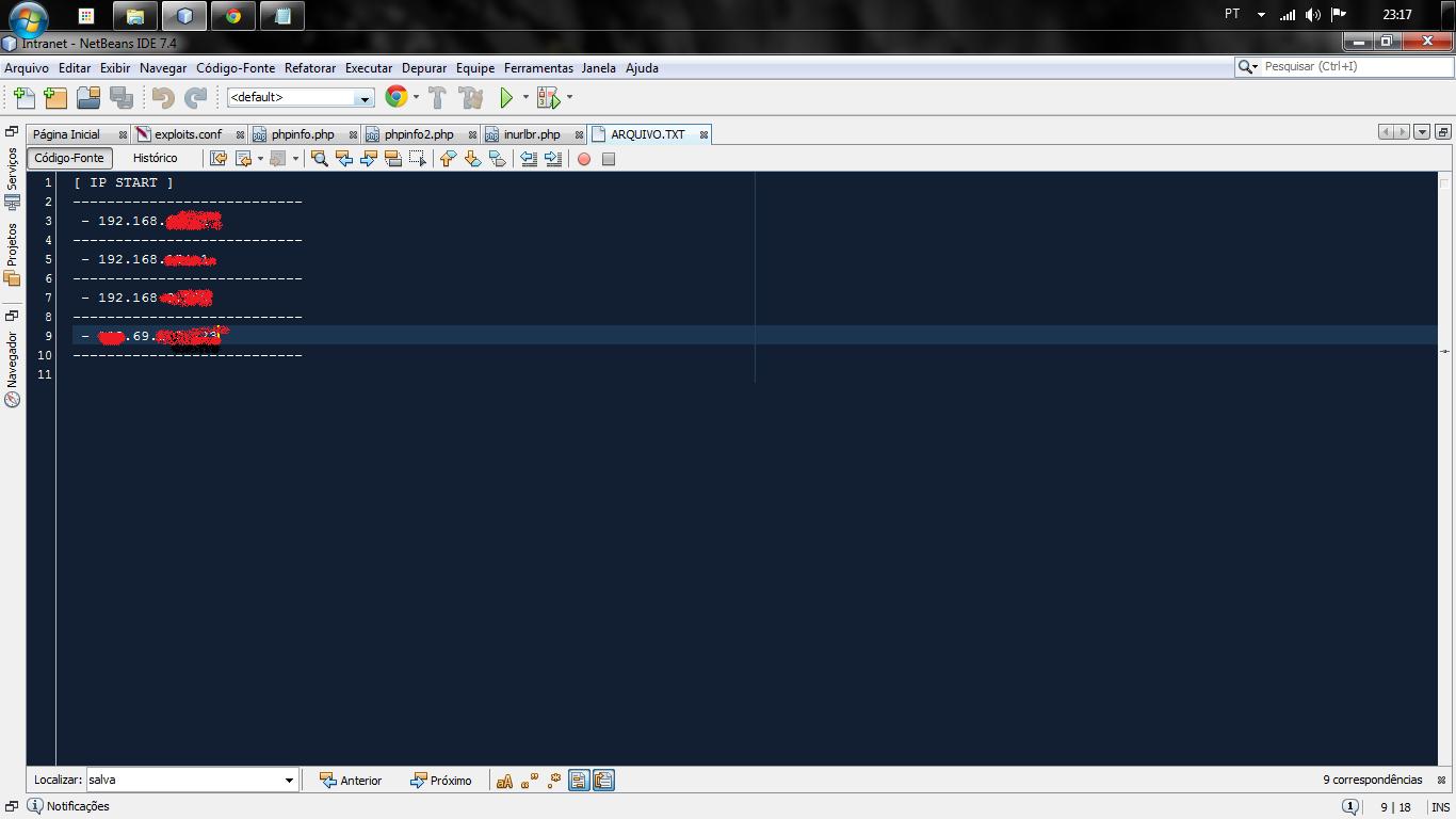 Ao acessar o arquivo exploração-1, o mesmo passa via request get os ips captados do cliente para o arquivo-2(inurlbrasil.php) , assim já armazenando o mesmo no arquivo local server detentor do script.