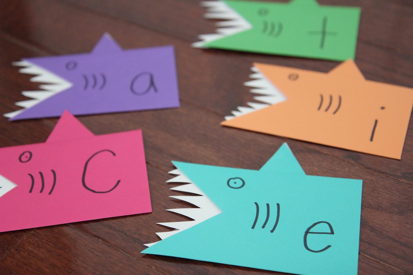 Toddler Approved Shark Name Game For Preschoolers