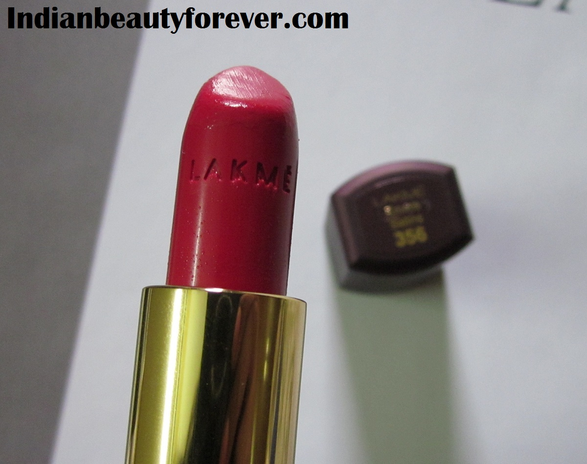 Lakme Enrich Satins Lipstick 356 Review and Swatches