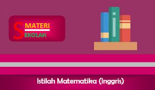 Istilah-Istilah Matematika dalam Bahasa Inggris