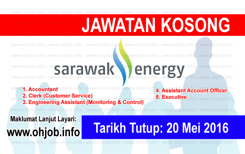 Jawatan Kerja Kosong Sarawak Energy logo www.ohjob.info mei 2016
