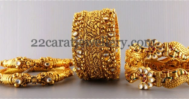 Antique Bangles from Malabargold - Jewellery Designs