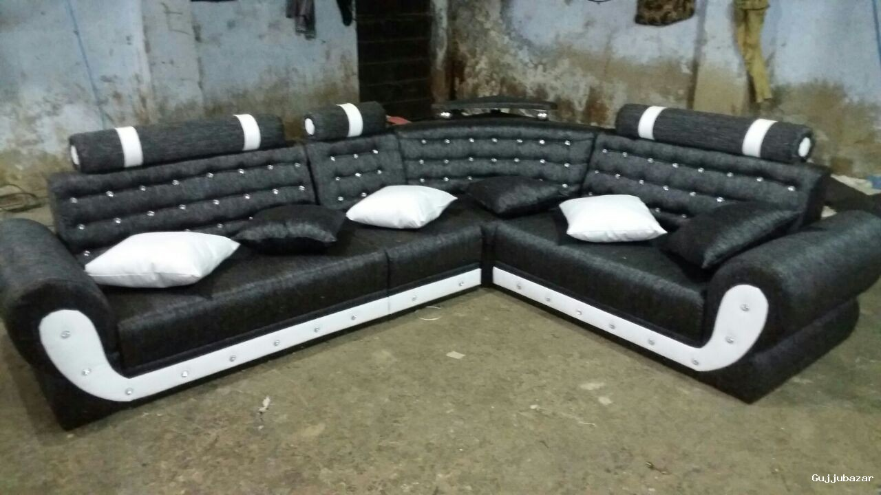 Corner Rexron Sofa With Diamond
