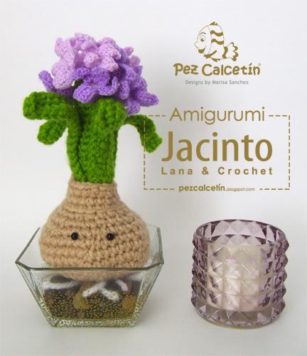 """""""amigurumi: jacinto flor de lana crochet"""" """"pez calcetin"""" """"lana-terapia"""" """"bienestar"""" """"macetas tejidas"""" """"wellbeing"""""""
