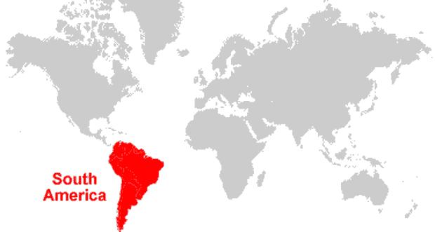 peta letak benua amerika selatan