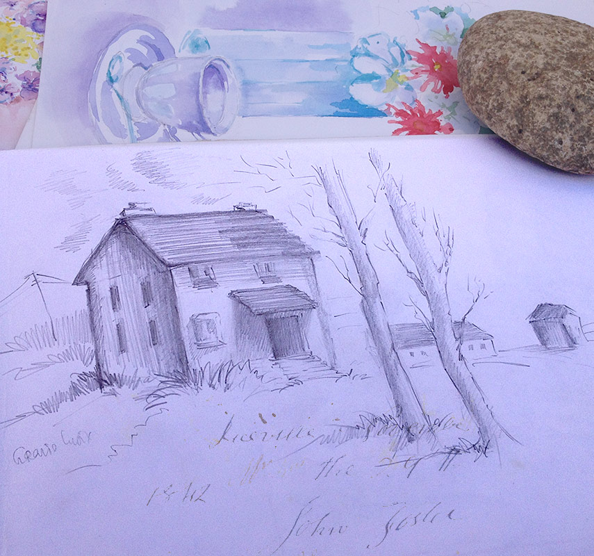 Old-House-Drawing
