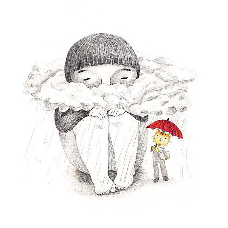 Illustrations by Eunji Jung from South Korea.