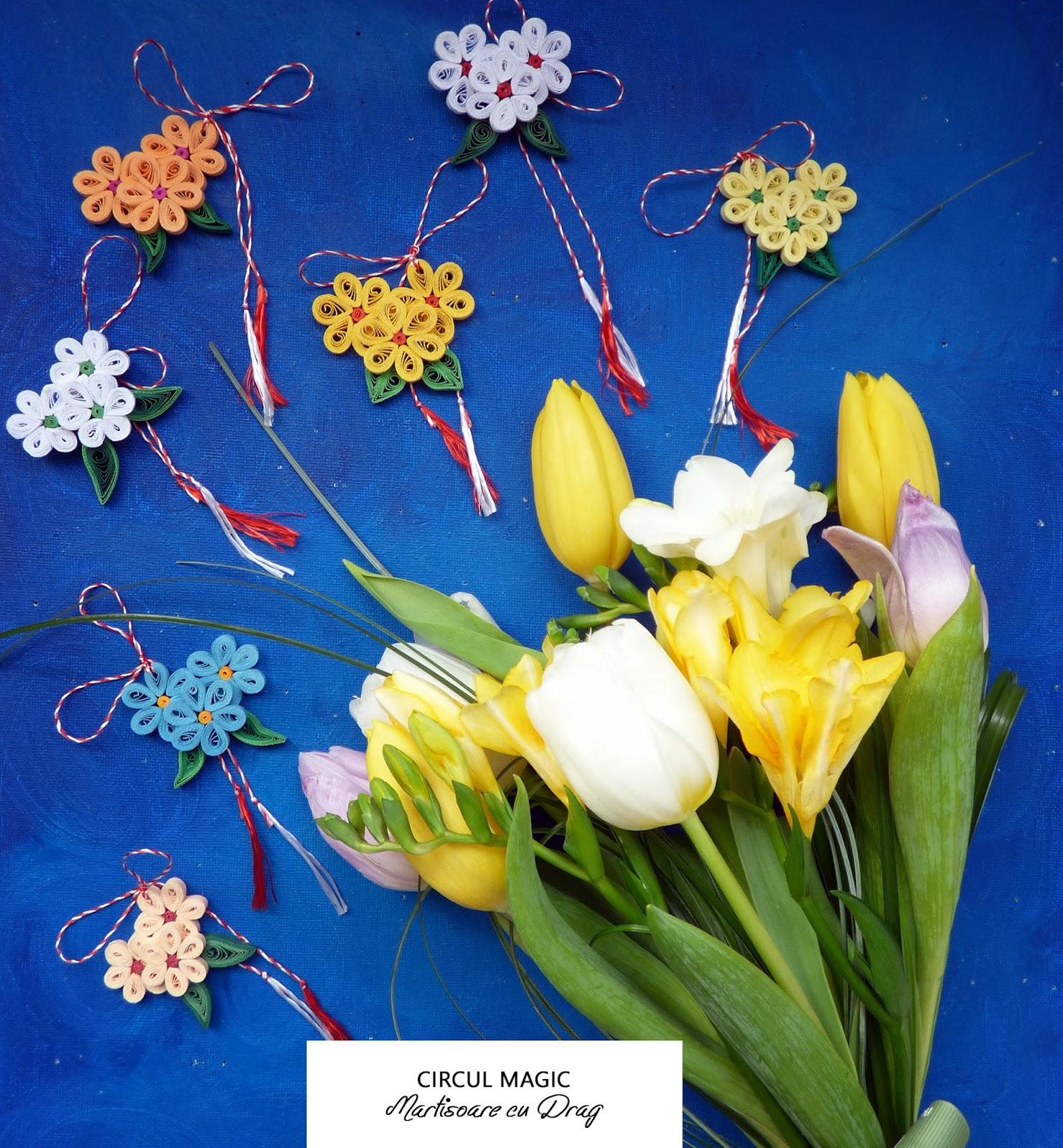 Martisoare Quilling 2017 Flori Primule Brose Circul Magic