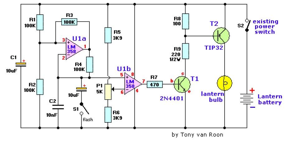 LANTERN DIMMER FLASHER CIRCUIT DIAGRAM ELECTRONIC PROJECT FREE INFORMATION   BASIC ELECTRONICS