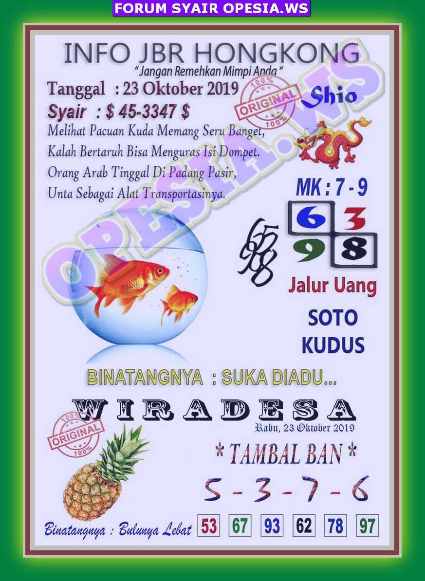 Kode Syair Hongkong 23 Oktober 2019 Forum Syair Togel