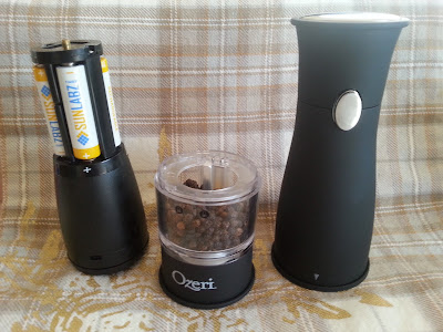 Artesio Soft Touch Electric Pepper Mill/Grinder by Ozeri