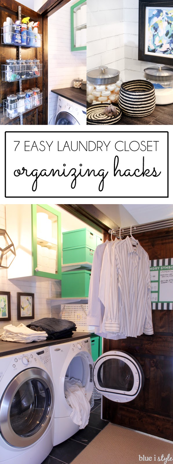 Laundry Closet Organizing Hacks
