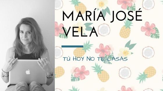 María José VEla presenta Tú hoy no te casas_Apuntes literarios de novela romántica Paola C. Álvarez