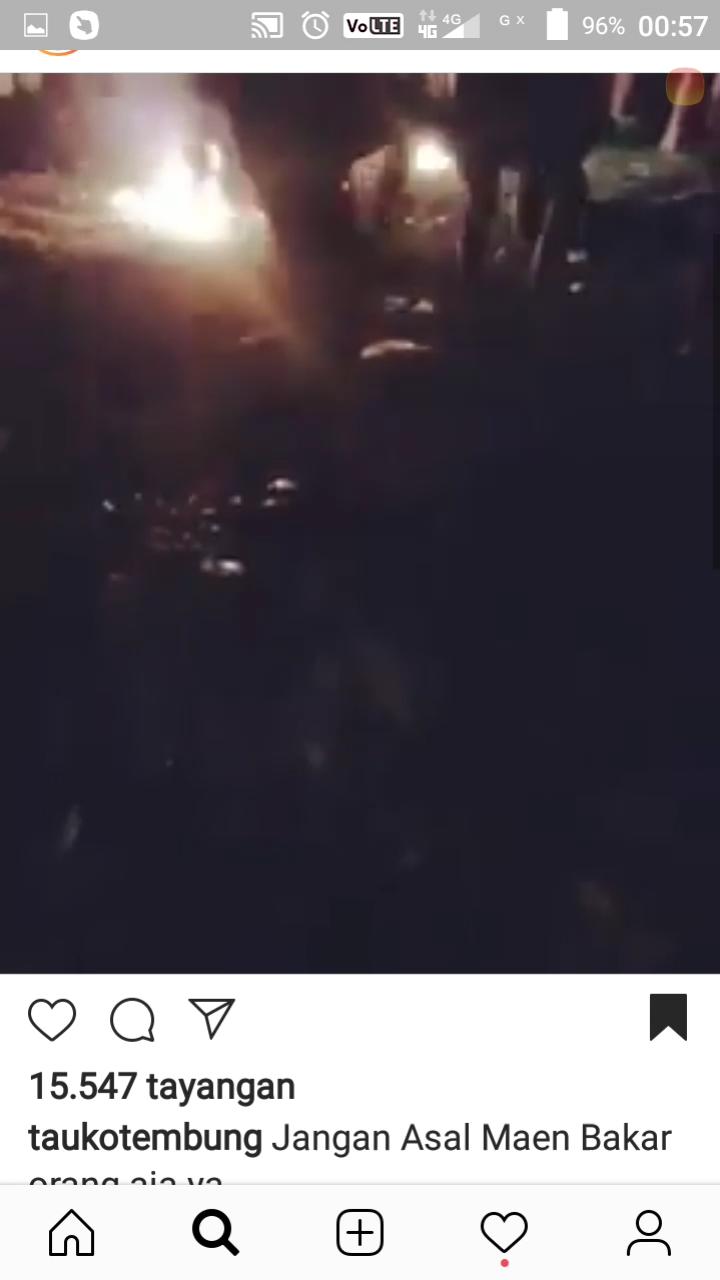 Postingan di Instagram pria di Tembung dibakar hidup-hidup.