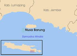 peta arah ke pulau nusa barong
