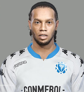 PES 2018 Faces Ronaldinho Gaucho by Kleytonscr