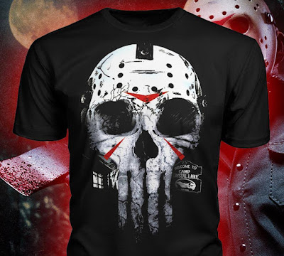 Jason Punisher T Shirt Hoodie BEST Horror Movies TeeShirt Gift Halloween