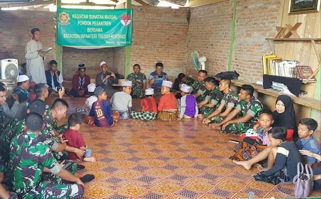Cintai Anak Suku Marrin dan Suku Muyyu di Merauke, Yonif 755 Kostrad Gelar Khitanan Massal