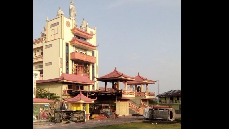 Kondisi vihara di Tanjung Balai pasca kerusuhan
