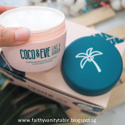 Review of COCO & EVE Like A Virgin Super Nourishing Coconut & Fig Hair Masque Singapore