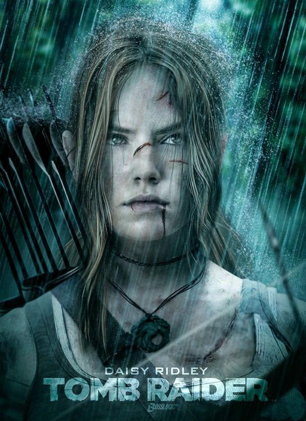 Así podría verse Daisy Ridley como Lara Croft de Tomb Raider