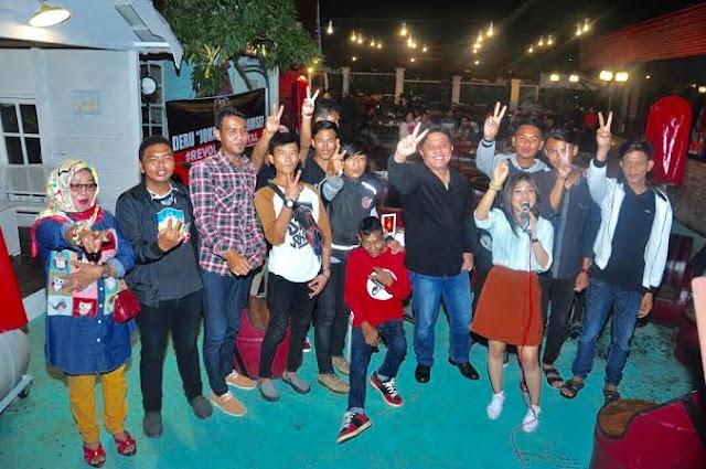 Komunitas Slanker Palembang Kongkow Bareng Herman Deru