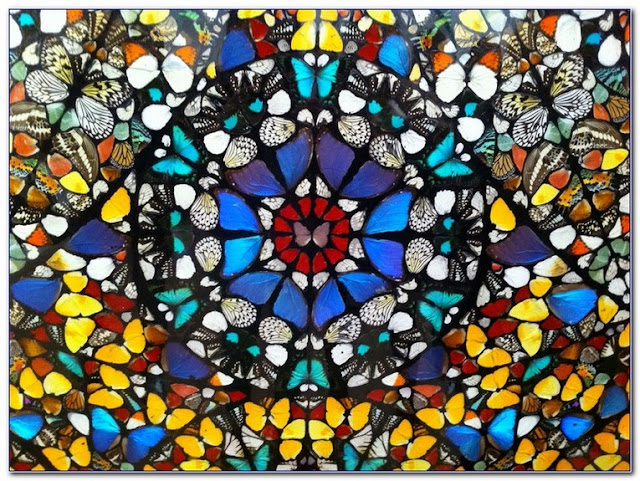 Best Damien Hirst Butterfly Stained GLASS WINDOW design