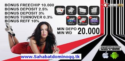 Situs JOKIQQ agen dominoqq poker online bandarq online terpercaya