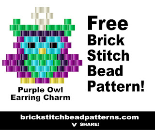 Free brick stitch seed bead pattern printable download pdf.
