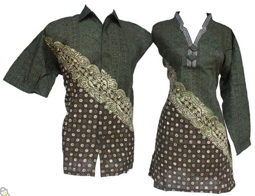 contoh model baju batik sarimbit