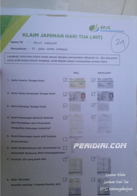 Formulir JHT BPJS Ketenagakerjaan