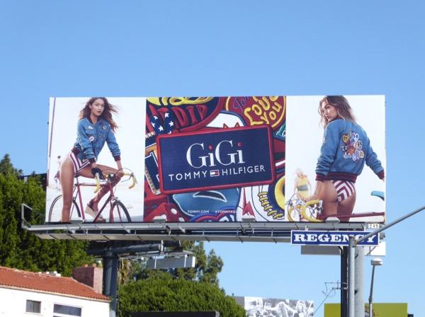 Gigi Tommy Hilfiger spring 2017 billboard