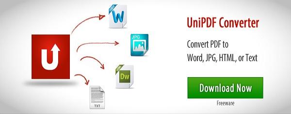 برنامج تحويل ملفات بي دي اف إلى ورد UniPDF